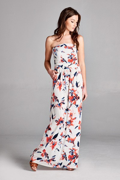 Inance Floral Printed Maxi Dress with Pockets - Comes in 3 Colors