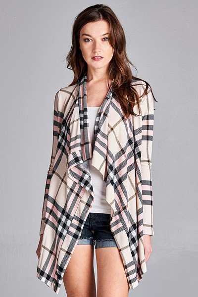 Inance Check Yourself Out Cardigan - Made In The USA