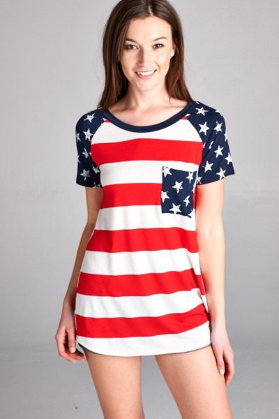 Inance Take It Higher Top Stars and Stripes - Made In The USA