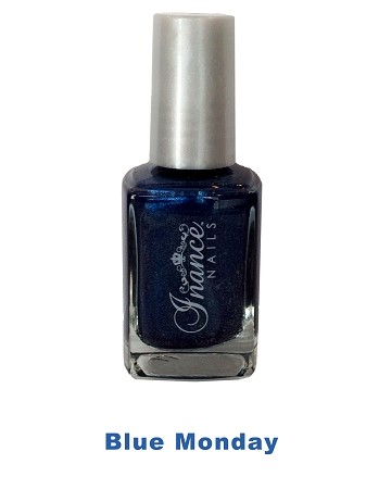 Inance Skincare Dynamic Chip Resistant Long Lasting Nail Polish, 5 Free of Chemicals, Blue Monday