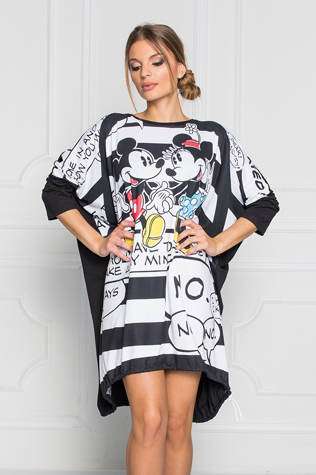 "Disney - Sugarbird Designs Exclusive for Inance Mickey & Minnie ""Holding Hands"" Tunic Dress"