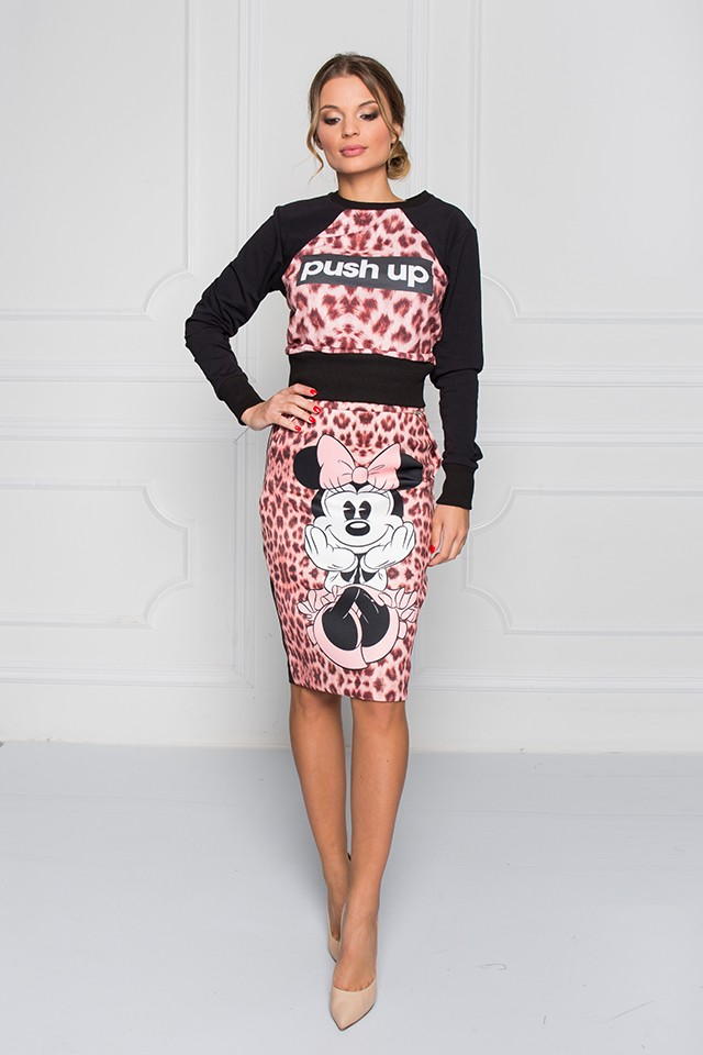 Disney - Sugarbird Designs Exclusive for Inance - Minnie Mouse Pencil Fitted Skirt