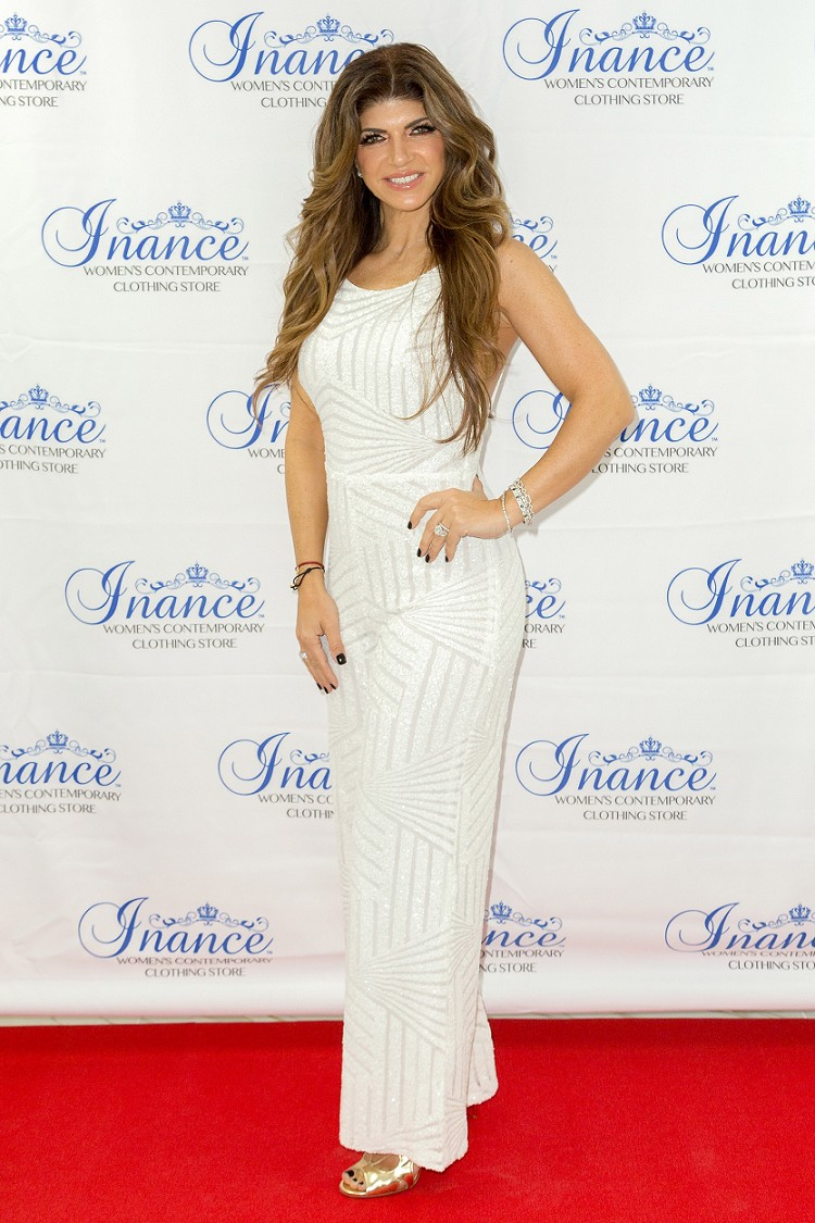 Inance Exclusive Sequined Jumpsuit as Seen ON Teresa Giudice