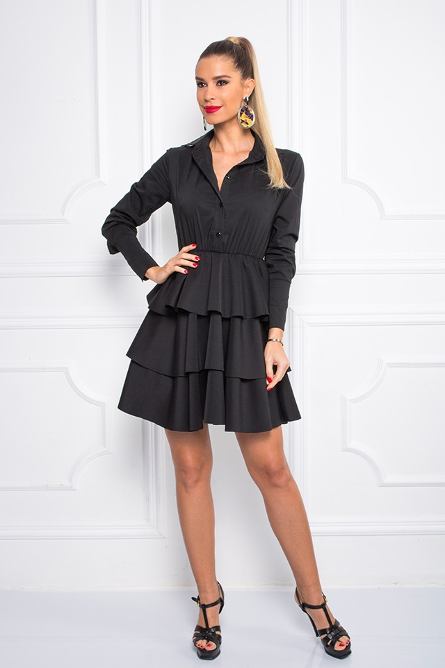 Sugarbird Design for Inance Layered Ruffle Mini Dress